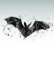 a flying bat vector image
