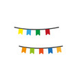 colorful garlands icon vector image