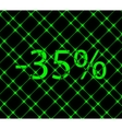 35 percent discount icon symbol Flat modern web vector image vector image