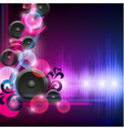 Abstract equalizer background with speakers vector image vector image