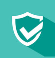 active protection shield icon with shade on a vector image
