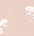 autumn foliage rose gold blush trendy chic vector image vector image