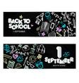 back to school promo banner design black vector image vector image