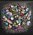 bahand drawn cartoon doodles vector image vector image