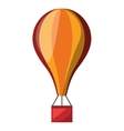 balloon air hot fly isolated icon vector image vector image
