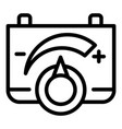 battery power control icon outline style vector image