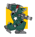 Battle Machine vector image vector image