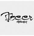 Beer Fest oktoberfest- vintage typography emblem vector image vector image