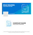 blue business logo template for book business vector image