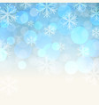 blue snowy background vector image vector image