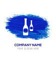 bottles icon - blue watercolor background vector image vector image