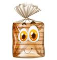 Bread with happy face vector image vector image