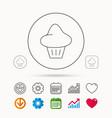 brioche icon bread bun sign vector image