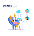 business process poster concept vector image
