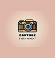 capture every moment vintage camera or retro vector image vector image