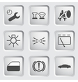 Car Dashboard icons 3 vector image
