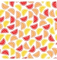 citrus seamless pattern slices tropical fruits vector image vector image