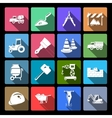 Construction Icons Set Flat vector image