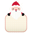 Cute retro red Santa greeting with banner vector image vector image
