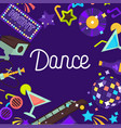 dance clubbing and partying cocktail vector image