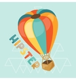 Design with air balloon in hipster style vector image vector image