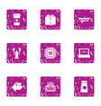 digital treatment icons set grunge style vector image vector image