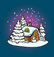 fabulous gingerbread christmas house vector image vector image