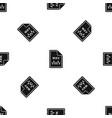 file wav pattern seamless black vector image vector image