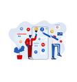 flat modern design app development vector image