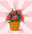 flower pot botanical natural blossom flora vector image