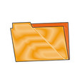folder archive office supply element blank icon vector image vector image