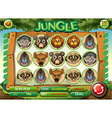 Game template with animal characters vector image vector image