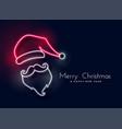 glowing neon light santa claus vector image vector image