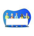 group young people standing together and vector image vector image