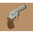 gun pistols isolated revolver wood background vector image vector image