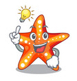 have an idea underwater sea in the starfish mascot vector image vector image