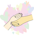 Holding hands of lover vector image vector image