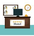 hotel reception scene icons vector image vector image