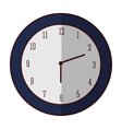 Isolated time clock design vector image