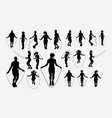 jumprope sport activity silhouette vector image vector image