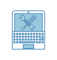 laptop computer with tools vector image