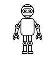 machine humanoid icon outline style vector image vector image