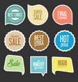 modern sale stickers and tags collection 5 vector image vector image