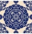 Ornamental seamless pattern Blue ethnic