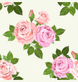 pale pink and beige roses seamless pattern vector image
