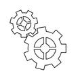 pictogram gear wheel engine cog icon vector image