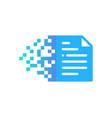 pixel document logo icon design vector image