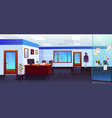 police station room interior with evidence board vector image vector image