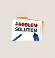 problem solution searching solutions solving vector image vector image