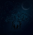 Romantic meeting at night vector image